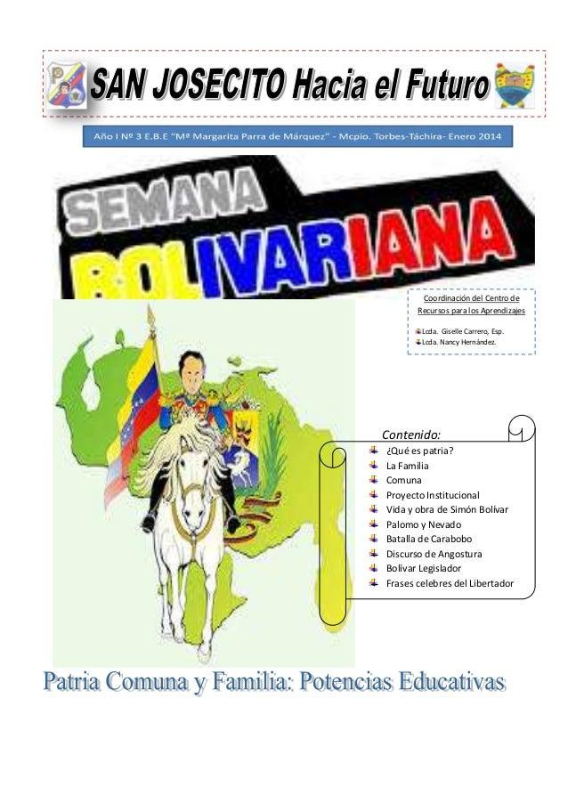 Semana Bolivariana y Plan de la Patria