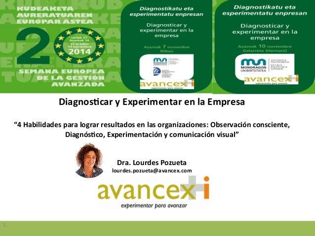 """Diagnos(car  y  Experimentar  en  la  Empresa      """"4  Habilidades  para  lograr  resultados  en ..."""