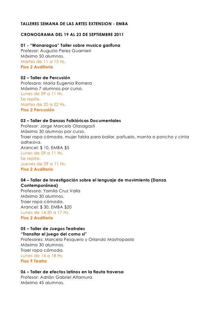 Semanadelasartes2011