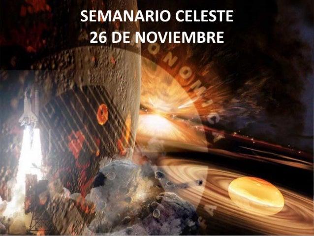 Semanario celeste 26 noviembre