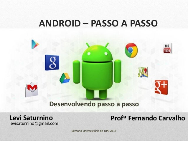 ANDROID – PASSO A PASSO Desenvolvendo passo a passo Profº Fernando CarvalhoLevi Saturnino levisaturnino@gmail.com Semana U...
