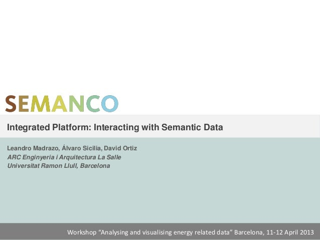 Semanco workshop Theme2 - Semanco