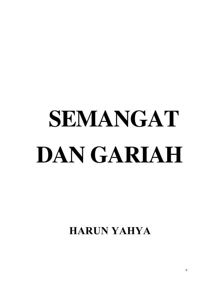 SEMANGATDAN GARIAH  HARUN YAHYA                v