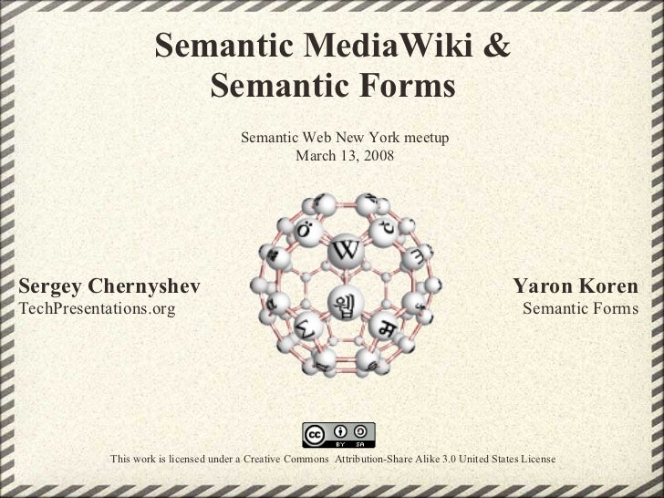 Semantic MediaWiki &                         Semantic Forms                                         Semantic Web New York ...