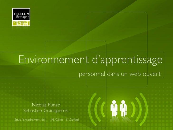 Environnement d'apprentissage                                                      personnel dans un web ouvert          N...