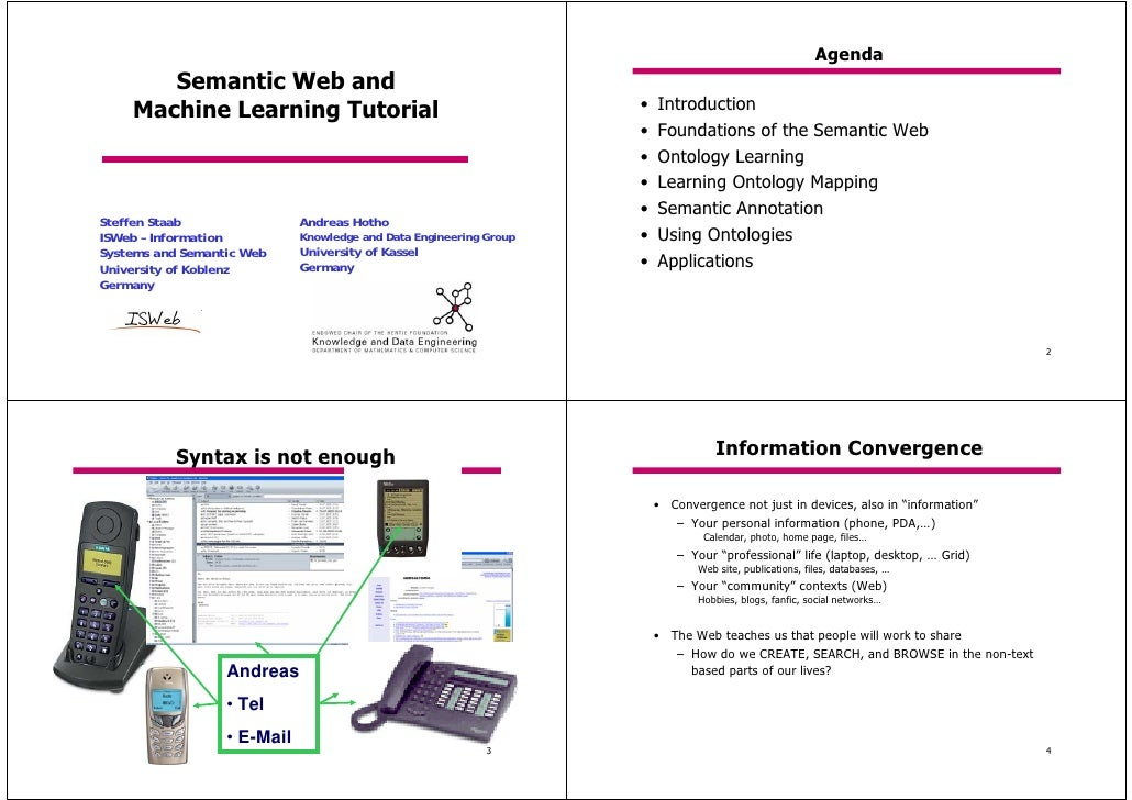 Agenda        Semantic Web and     Machine Learning Tutorial                                       •   Introduction       ...