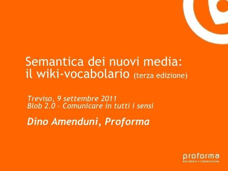 Semantica dei nuovi media - il wikivocabolario (terza versione)