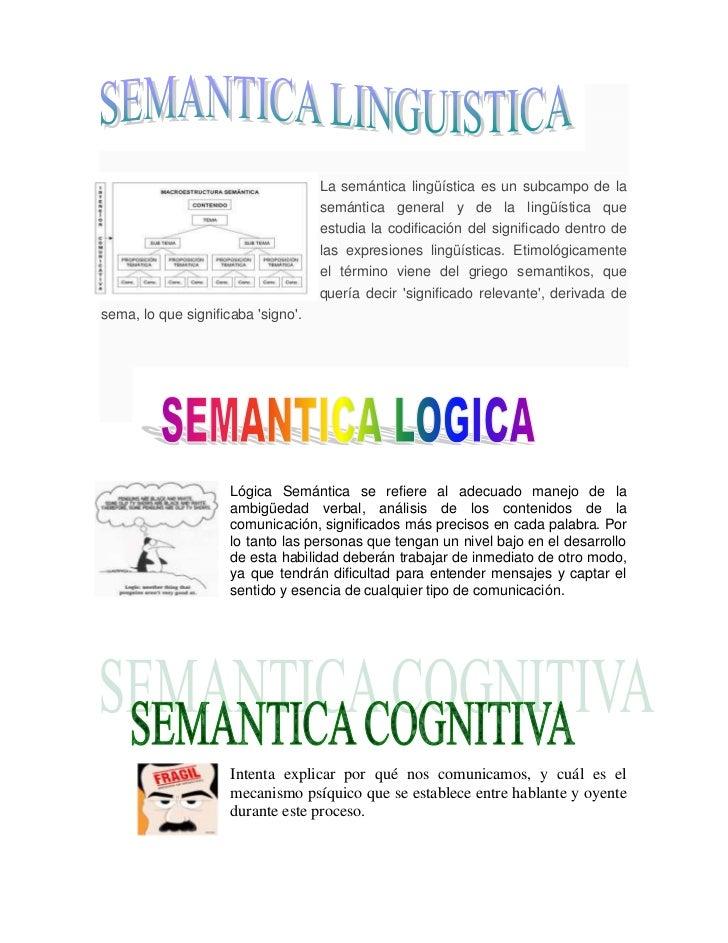 Clases de semantica