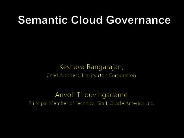 Semantic Cloud Governance