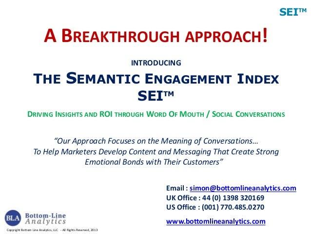 Semantic Engagement Index (SEI)