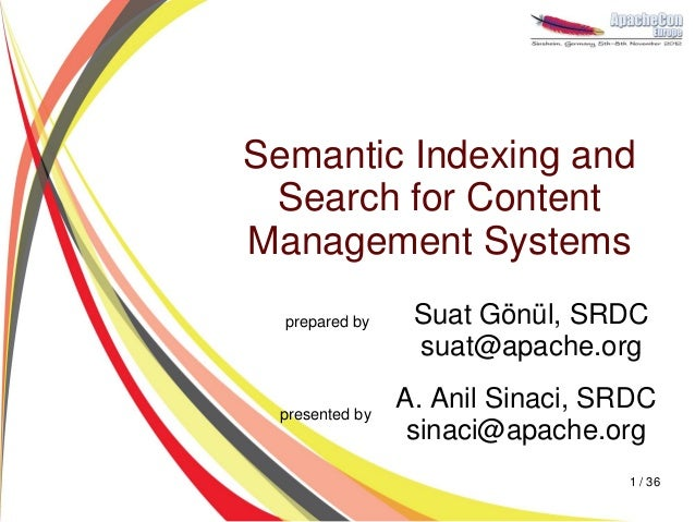 Semantic Indexing and Search for Content Management Systems with Apache Stanbol