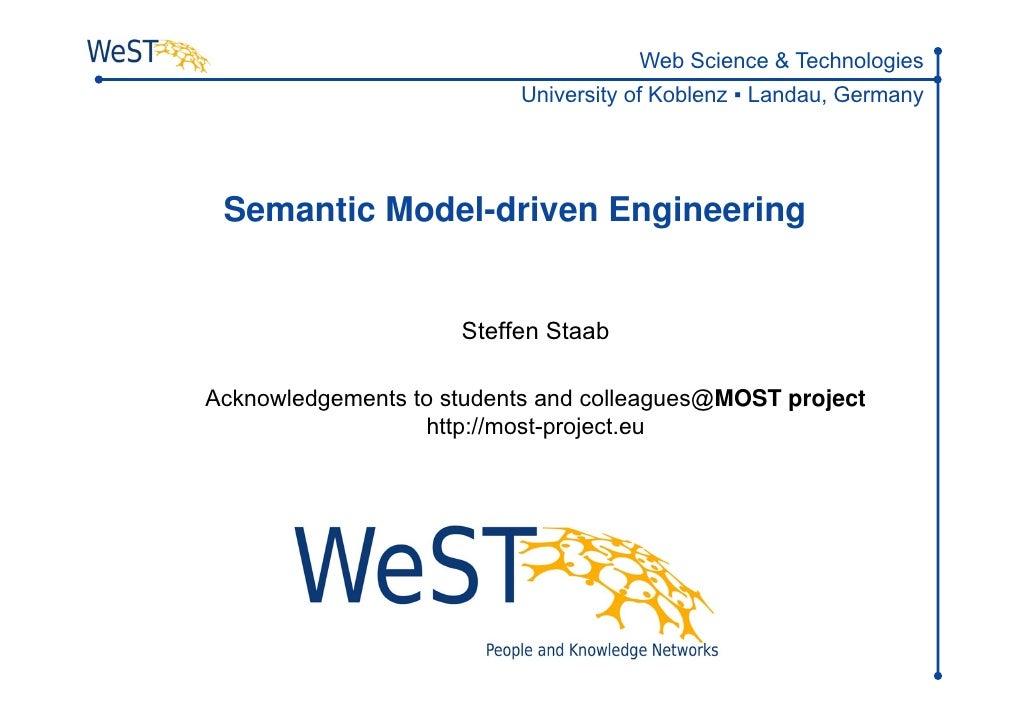 Semantic Model-driven Engineering