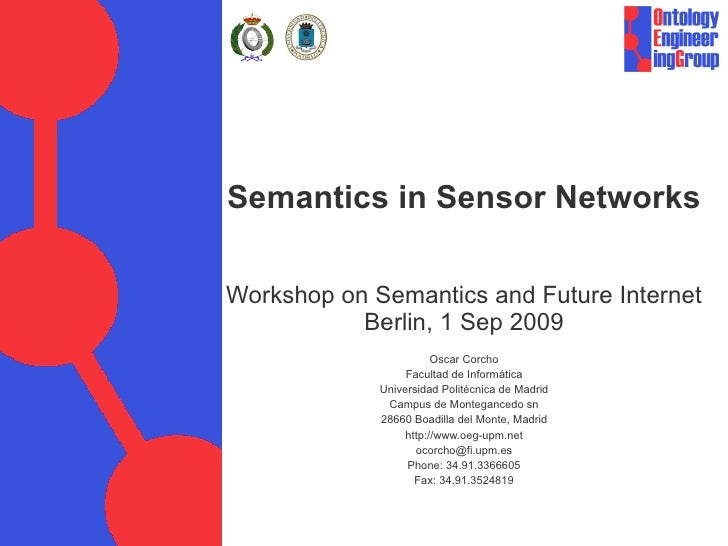 Semantics in Sensor Networks