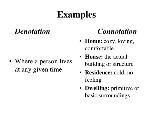 Denotation connotation essay