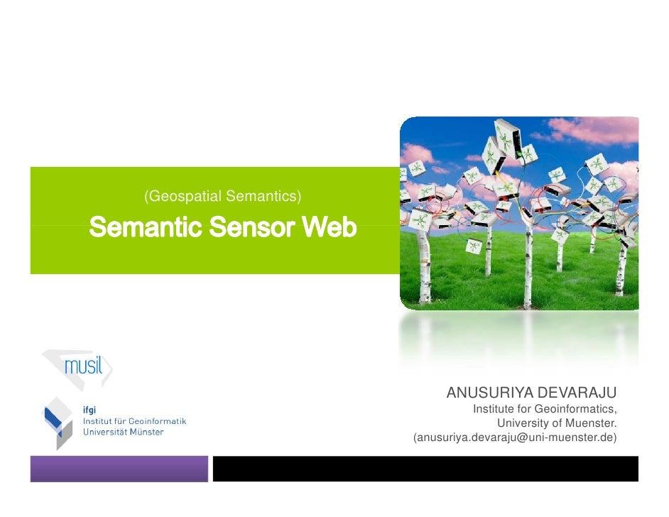Semantic Sensor Web