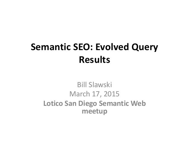 Semantic seo and the evolution of queries