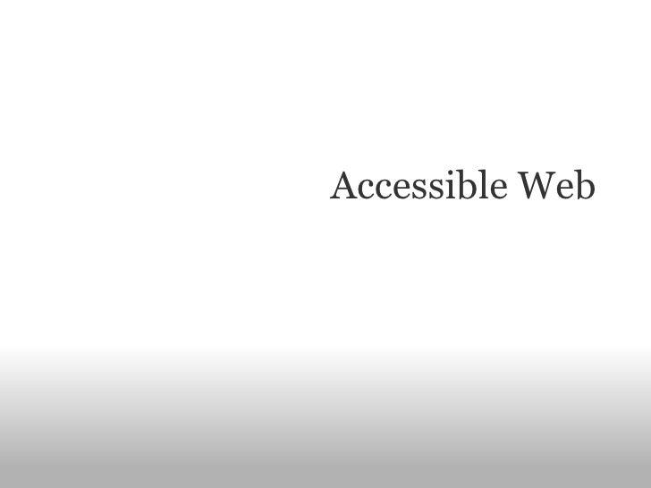 Machine Accessible Web