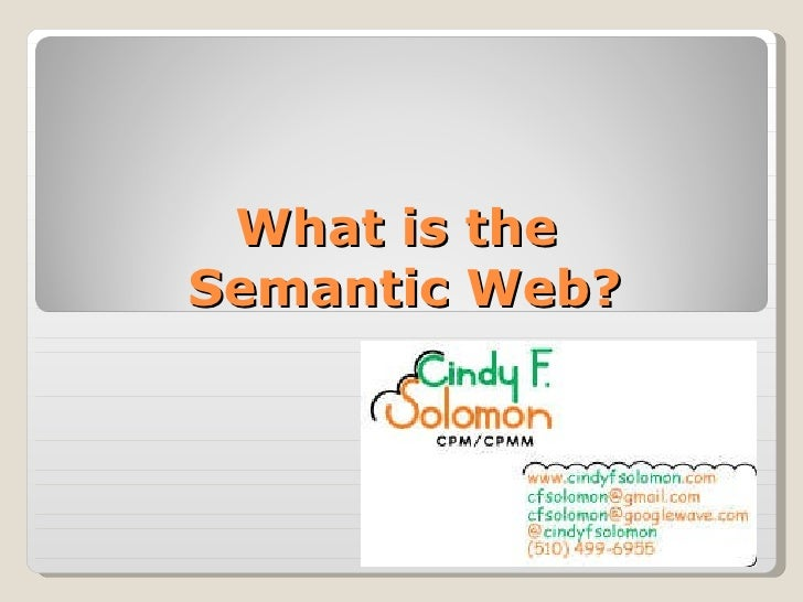 What is the  Semantic Web?