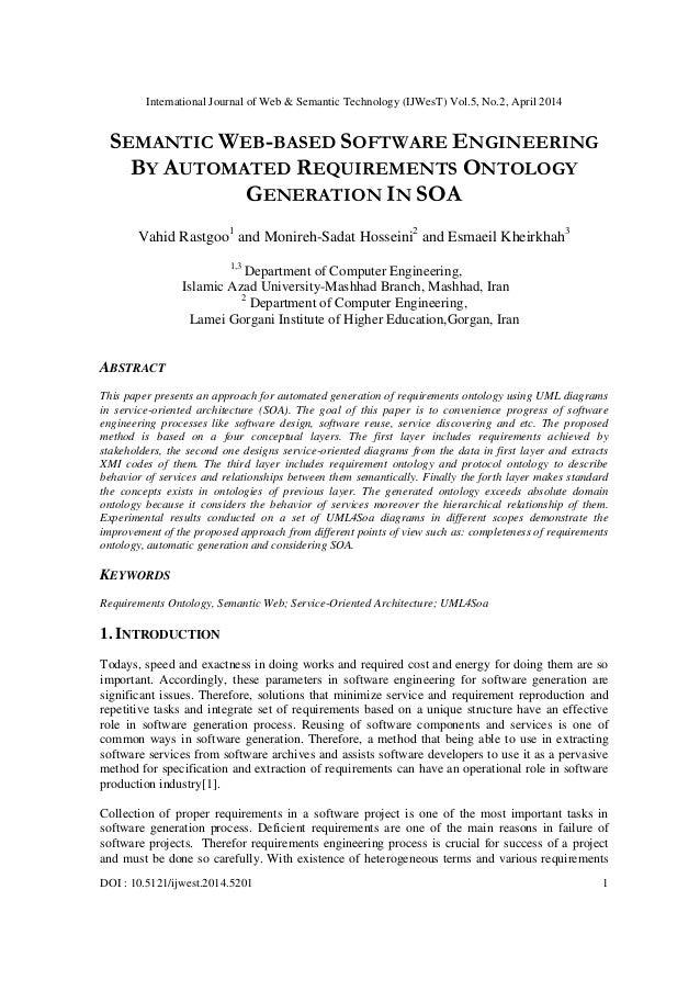 International Journal of Web & Semantic Technology (IJWesT) Vol.5, No.2, April 2014 DOI : 10.5121/ijwest.2014.5201 1 SEMAN...