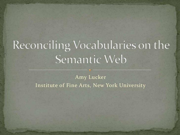Reconciling Vocabularies on the Semantic Web
