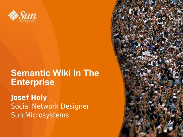 Semantic Wiki For The Enterprise