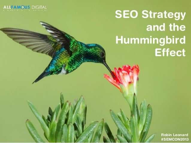 SEO Strategy and the Hummingbird Effect  Robin Leonard #SEMCON2013