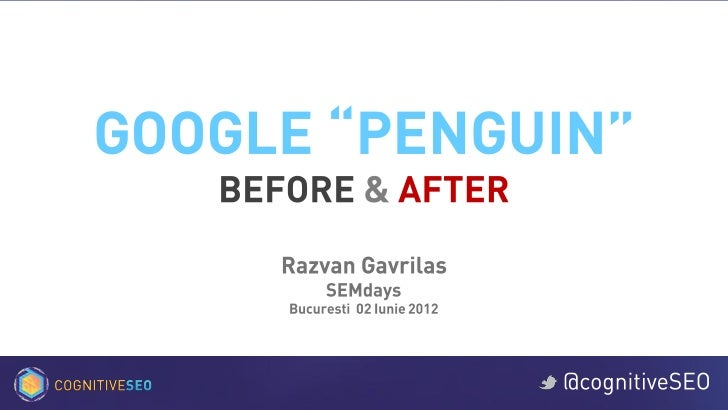 Google Penguin Before & After - SEMdays