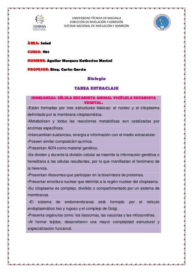 UNIVERSIDAD TÉCNICA DE MACHALA DIRECCIÓN DE NIVELACIÓN Y ADMISIÓN SISTEMA NACIONAL DE NIVELACIÓN Y ADMISIÓN  ÀREA: Salud C...