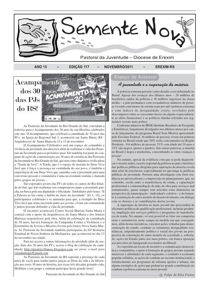 Pastoral da Juventude – Diocese de Erexim               ANO 15            –         EDIÇÃO 117            –    NOVEMBRO/20...