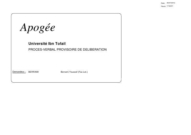 Date:   05/07/2012                                                             Heure: 17:26:01      Apogée              Un...