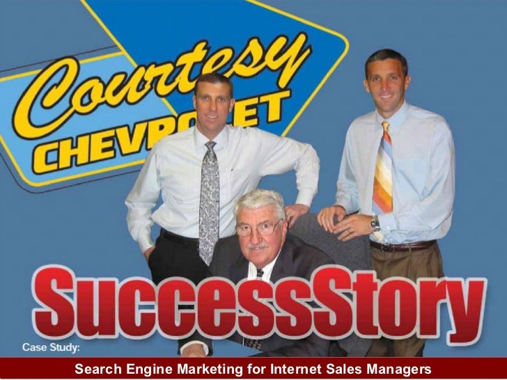 Search Engine Marketing for Internet Sales Managers at Car Dealerships