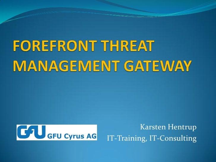 Karsten Hentrup IT-Training, IT-Consulting
