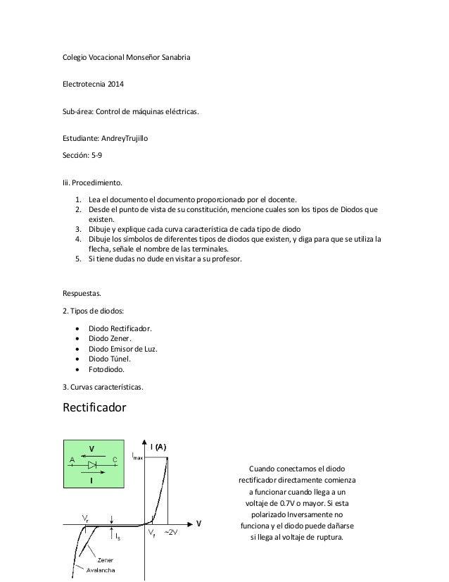 Colegio Vocacional Monseñor Sanabria Electrotecnia 2014 Sub-área: Control de máquinas eléctricas. Estudiante: AndreyTrujil...