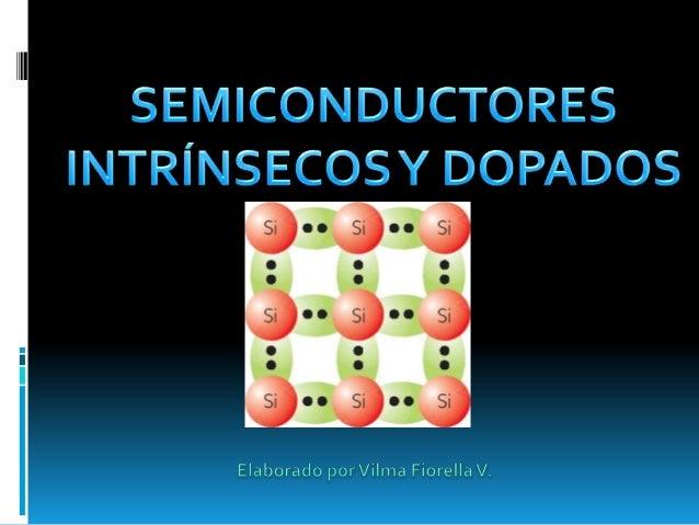 """SEMICONDUCTOR INTRÍNSECO   Se dice que un semiconductor es """"intrínseco"""" cuando    se encuentra en estado puro, o sea, que..."""