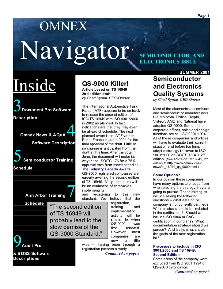 Page 1              OMNEX   Navigator                                                            SEMICONDUCTOR AND        ...