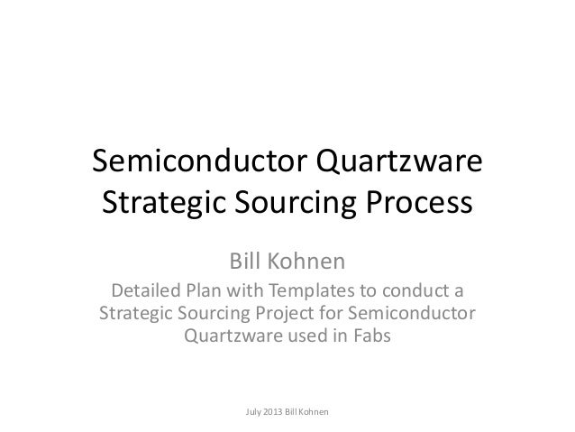 Semiconductor Quartzware Strategic Sourcing Process Bill Kohnen Detailed Plan with Templates to conduct a Strategic Sourci...