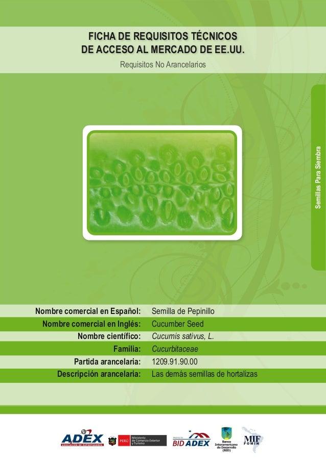BID - Semillas de pepinillo