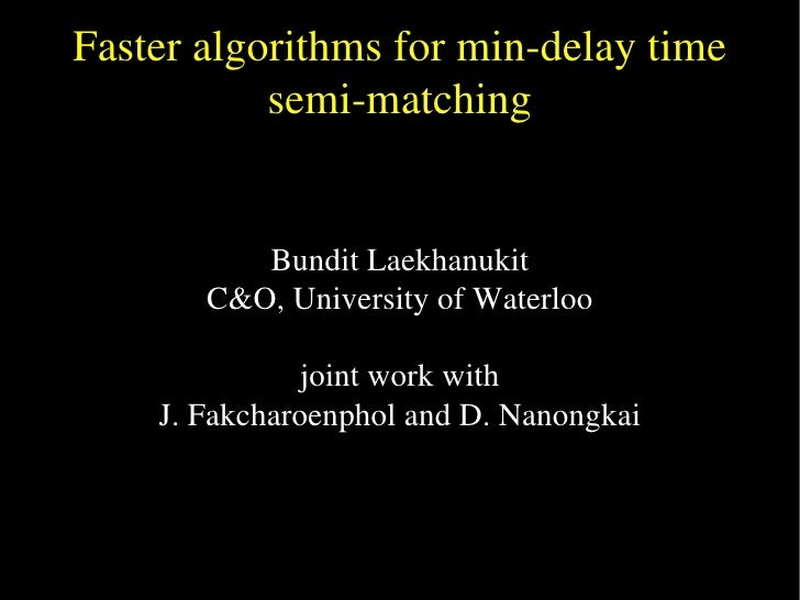 Faster algorithms for semimatching problems