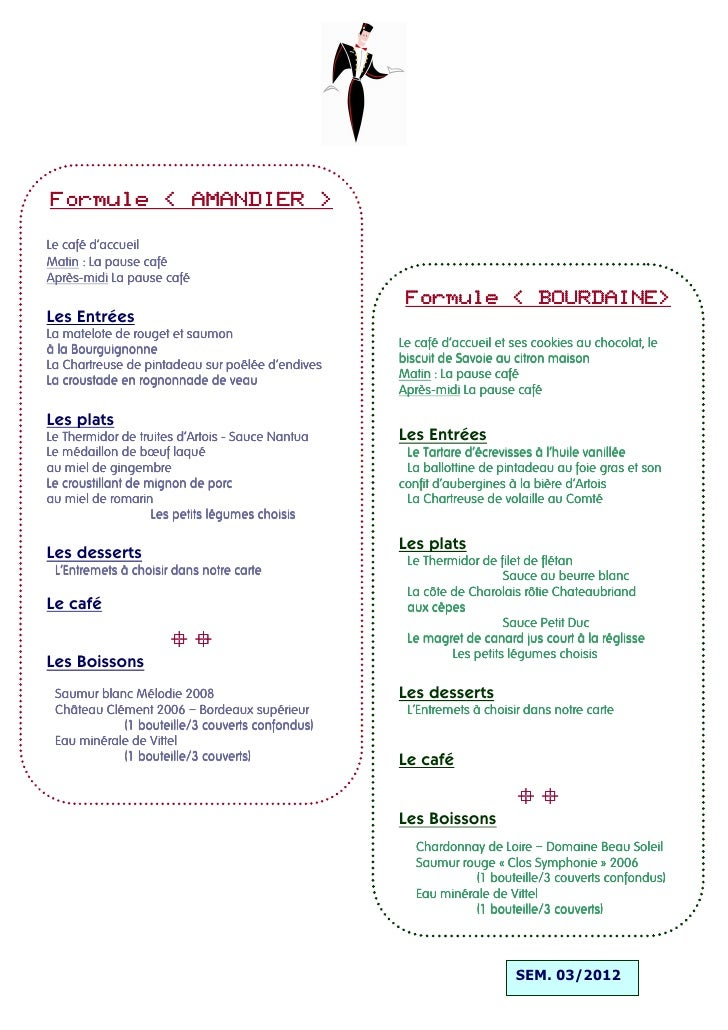 Formule « AMANDIER »Le café d'accueilMatin : La pause caféAprès-Après-midi La pause café                                  ...