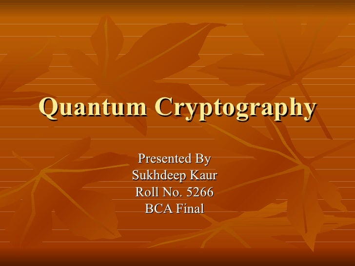 ieee research papers on quantum cryptography