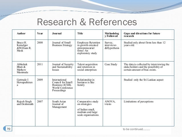 Research papers on employee retention