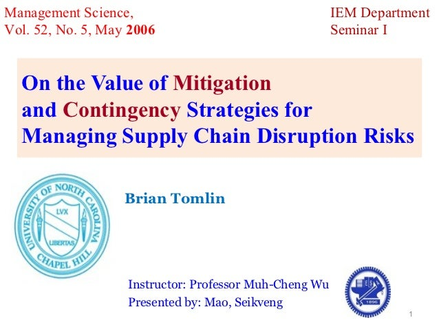 Management Science,                                     IEM DepartmentVol. 52, No. 5, May 2006                            ...