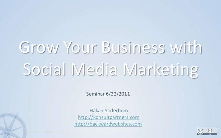 Seminar - grow your business with social media marketing (short)