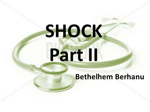 Shock : hypovolemic, septic and neurogenic