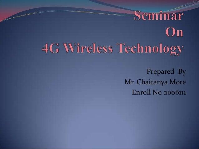 Prepared By Mr. Chaitanya More Enroll No :1006111