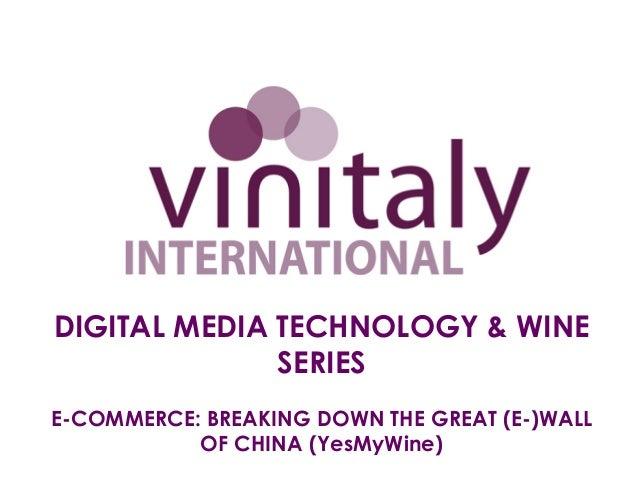 Seminar 1b yes mywine (vinitaly)