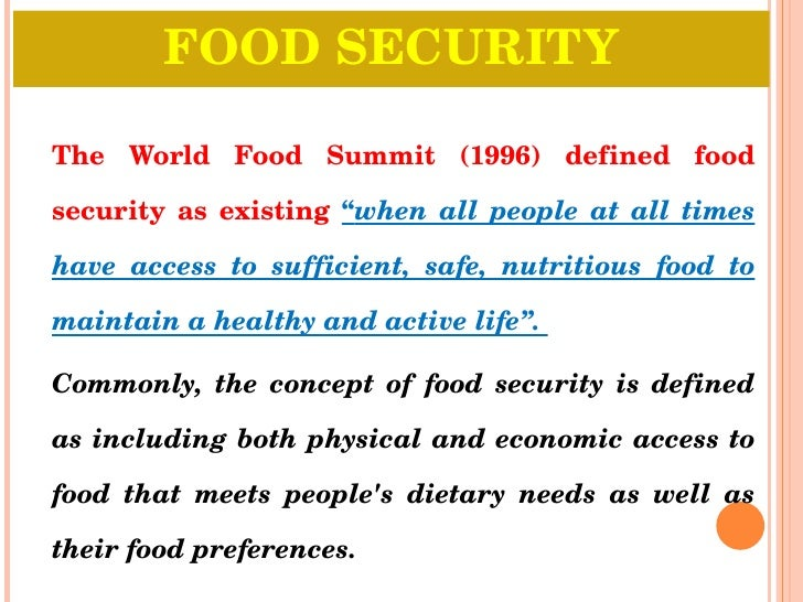 Food Security Essay