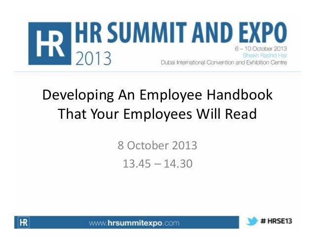 Developing An Employee Handbook That Your Employees Will Read, Elrona D'Souza