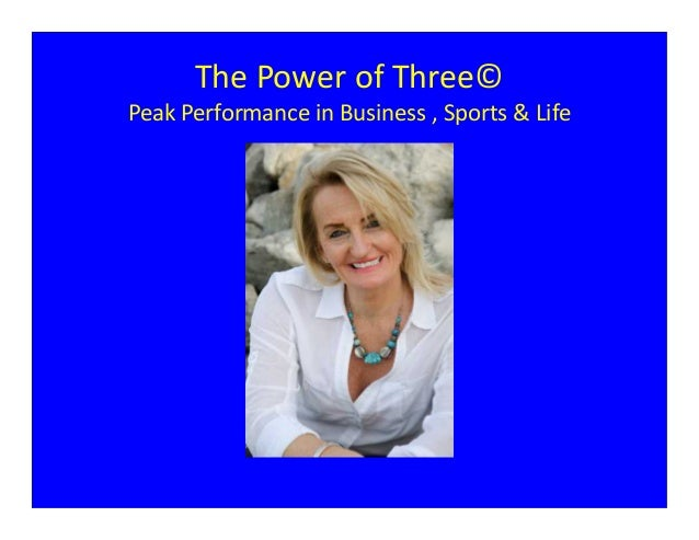 The Power of Three - Changing Strategy For Peak Performance In Business, Sports And Life, Jules Lewis