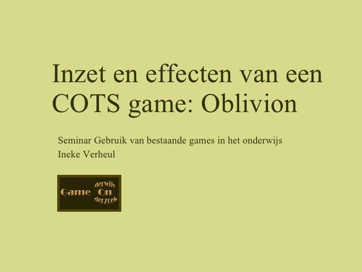 Seminar 3 Feb Oblivion